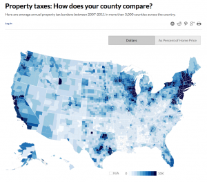 Seniors Usually Say Goodbye To Property Taxes When They Move Into - Property tax map us